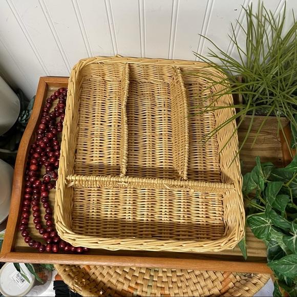 Wicker Drawer Organizer Storage Basket